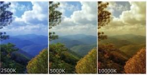 Різниця фотографії з різним балансом білого