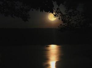 Місяць на нічному небі
