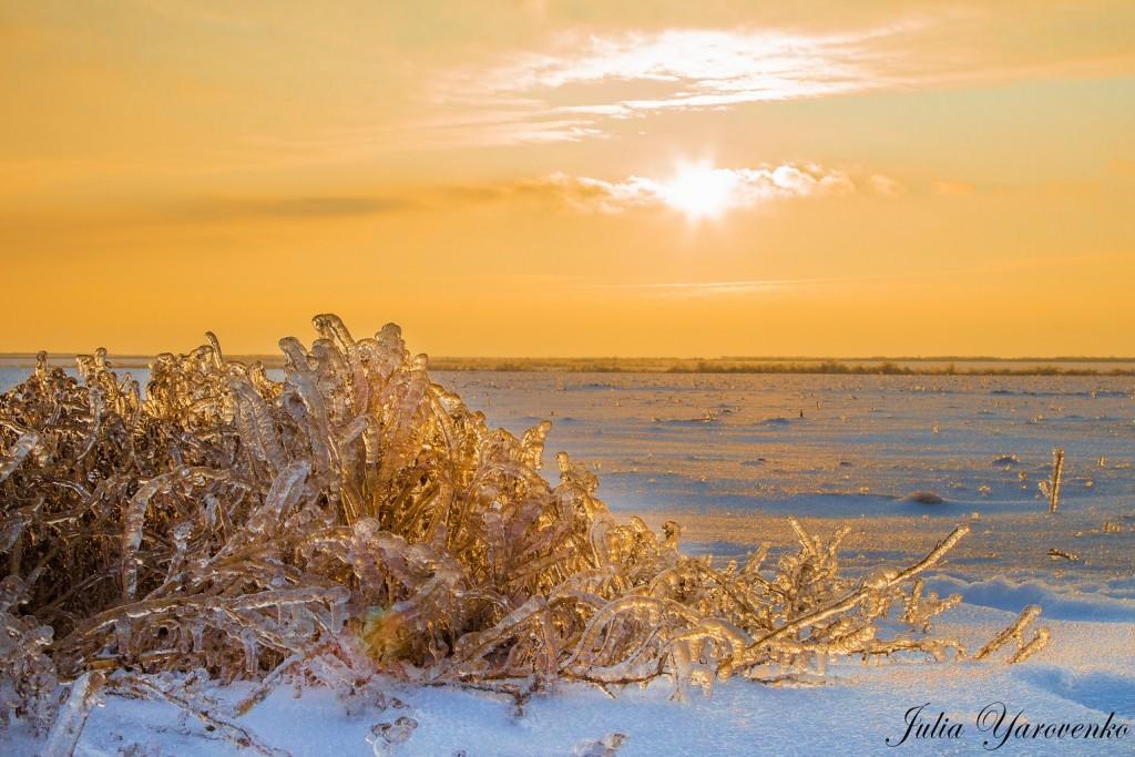 Крижаний захід сонця