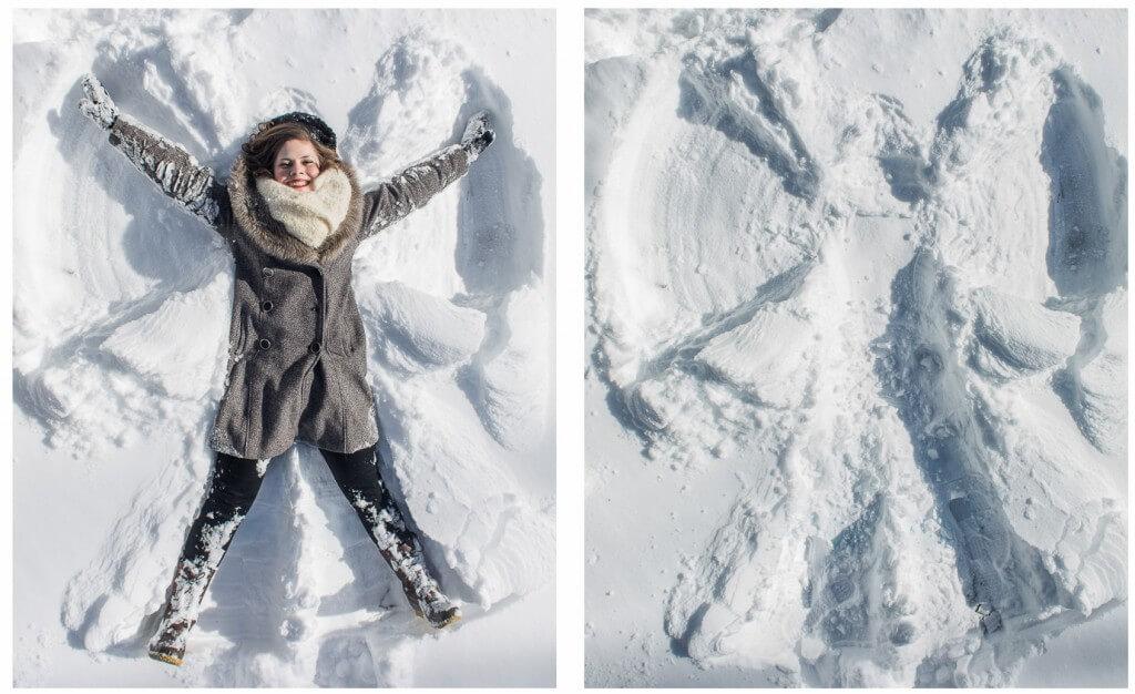 """Фото із серії """"Snow angel"""" фотографа Білла Вадмана"""