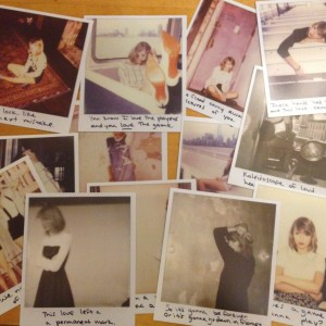 Фотокартки американської кантрі-поп-співачки Тейлор Свіфт, зняті на Polaroid