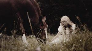 Кінь та дівчина. Фото з практичних занять