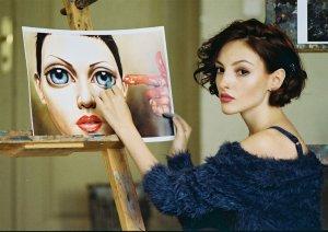 Дівчина з картиною. Автор Давид Бугнар
