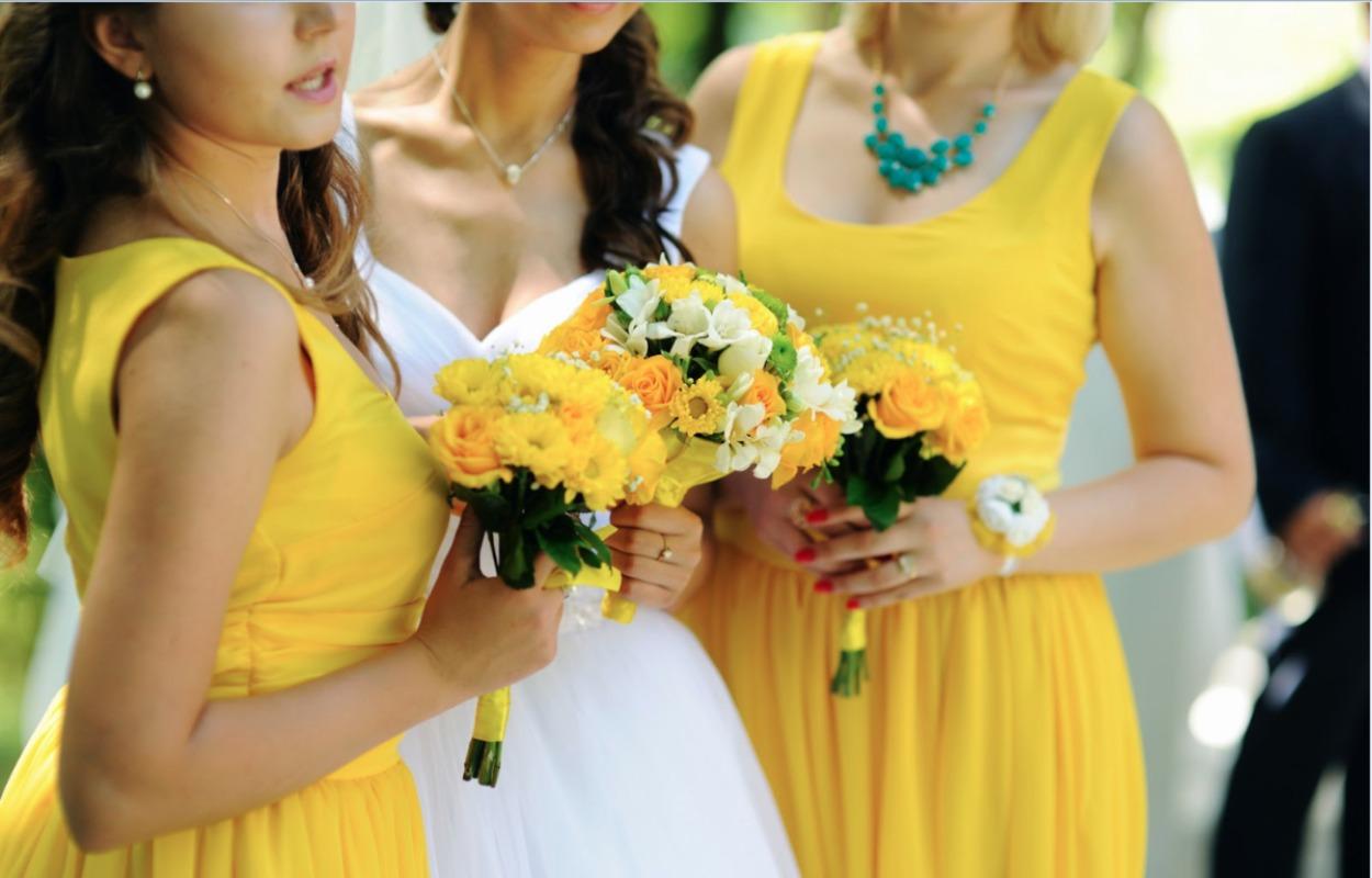 Весілля у жовтому кольорі