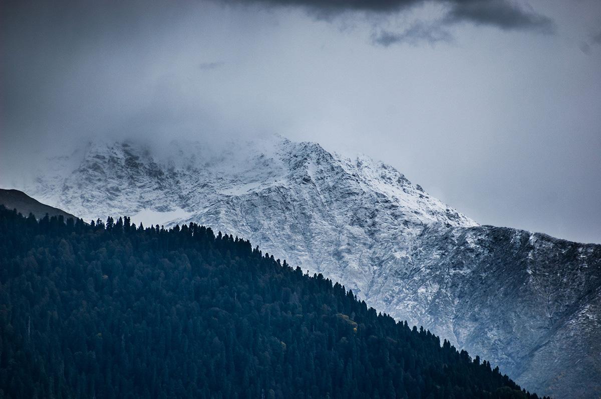 Гарний контраст з гірської дороги