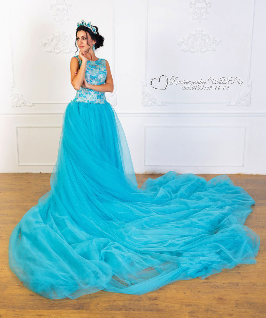 "Фотопроект ""QUEEN"". Голуба сукня"