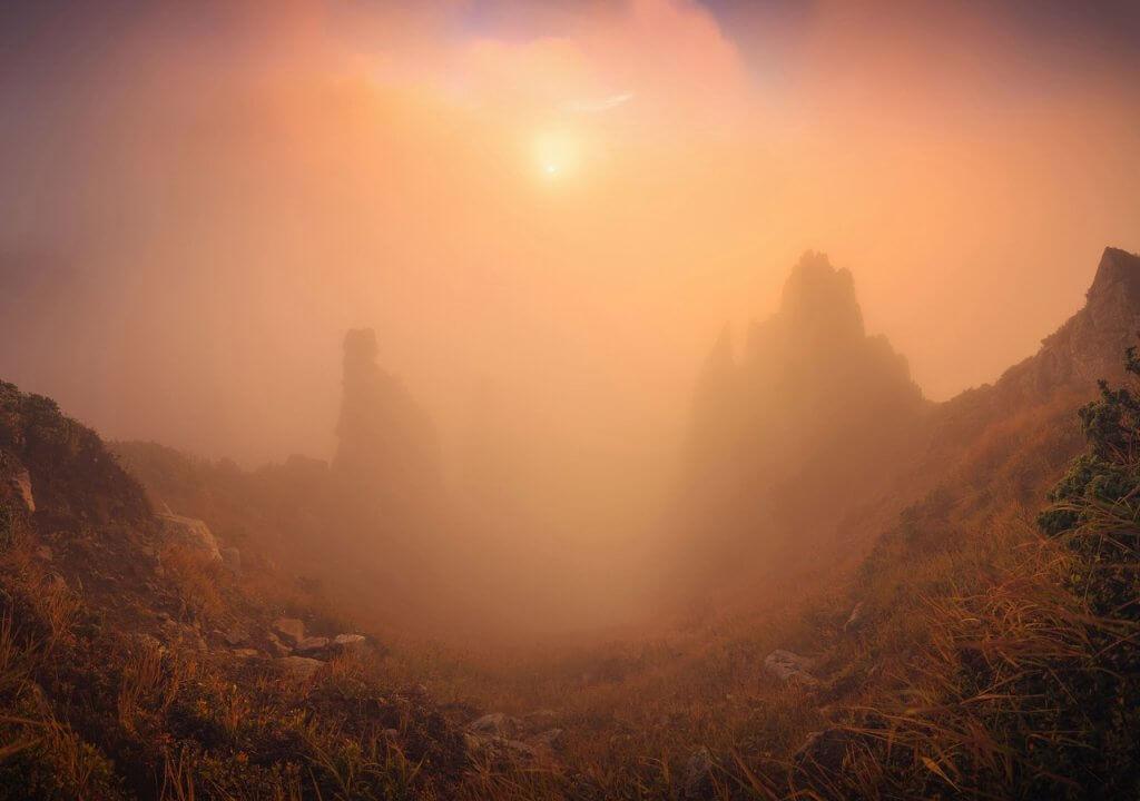 Ранковий пейзаж. Автор Віталій Башкатов