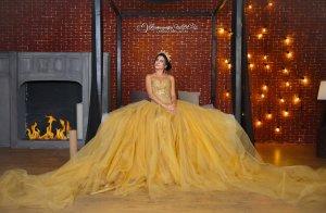 Фотопроект «QUEEN». Золота сукня