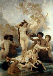 Картина Народження Венери. Художник Адольф Бугеро, 1879 р.