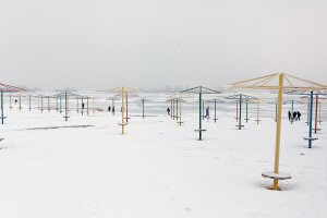Пляж взимку