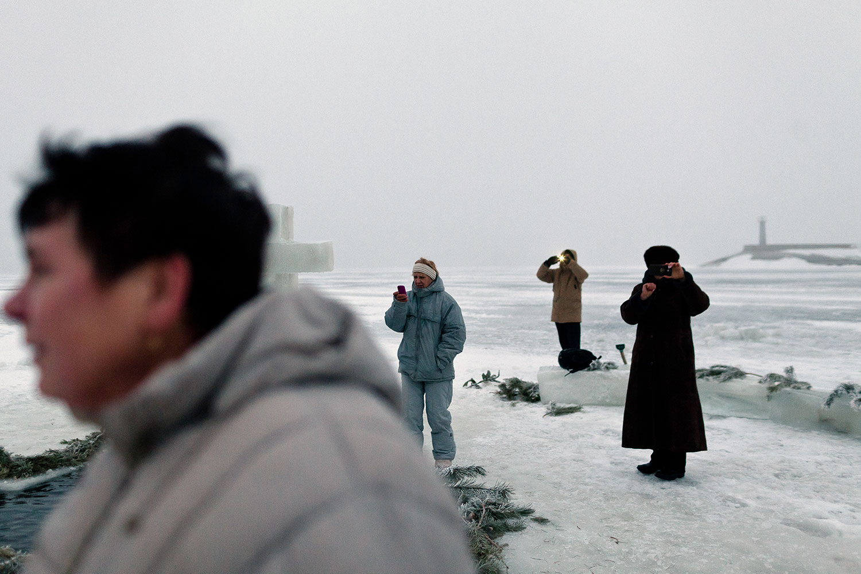 Зима на Дніпрі